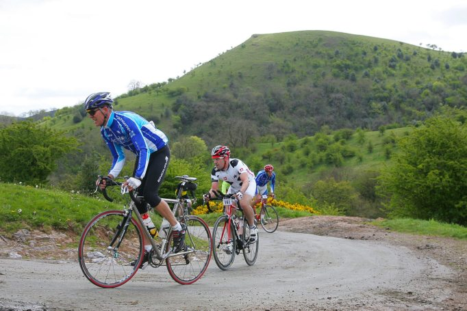 The Tour of the Potteries goes through the Peak District including the climb of Mow Cop