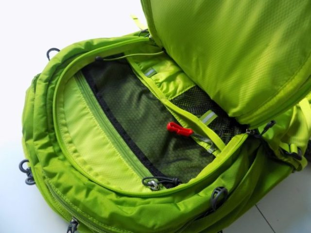 The front panel has loads of pockets to sort your stuff