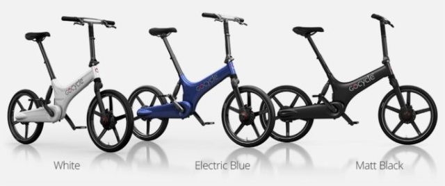 The Gocycle comes in three colours