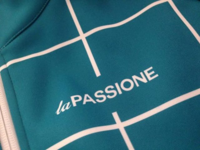 La PASSIONE  use a strong geometric design on their Winter Jacket