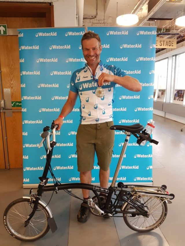 Job done. Nick proves you can ride the Prudential RideLondon on a Brompton