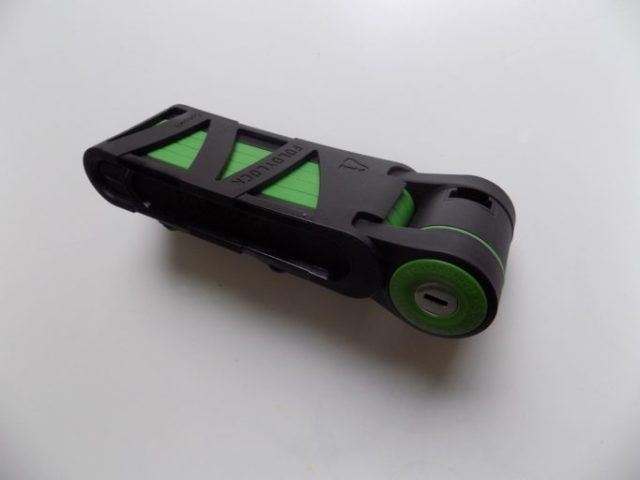 The Foldylocks's case provides a rattle free method of attaching to your bike