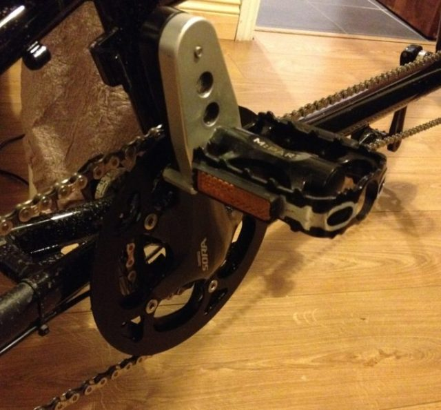 Crank shorteners are available that allow for growing legs