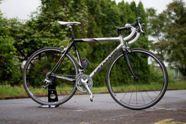 The Cannondale CAAD9 in it's original finish, we think you'll agree the new look is an improvement