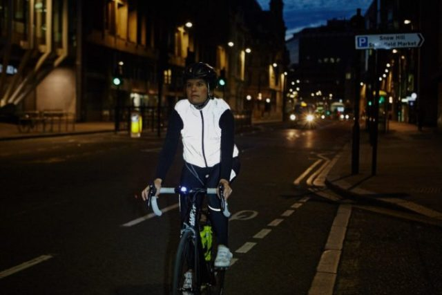 The Proviz REFLECT360+ gilet offers the same reflective and waterproof qualities as the jacket