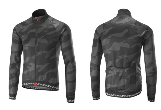 The Velotec Elite Camo Winter Jacket uses eVent fabric to keep you warm and dry