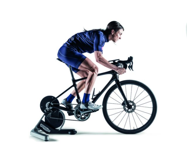 Technogym have designed the MYCYCLING trainer to offer a stable and realistic ride