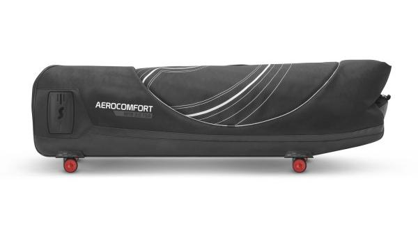 With bike removed, the AeroComfort packs down for storage