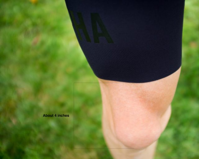 The perfect length? Rapha offer two lengths to choose from
