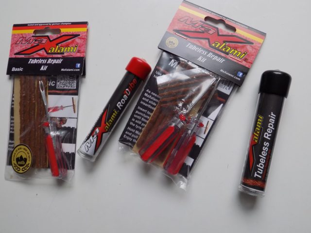 The MaXalami Plus Tubeless Repair Kit comes in various options