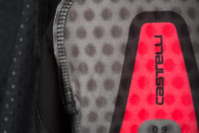 The Castelli Aero Race 4 Bibs have a fleecy pad