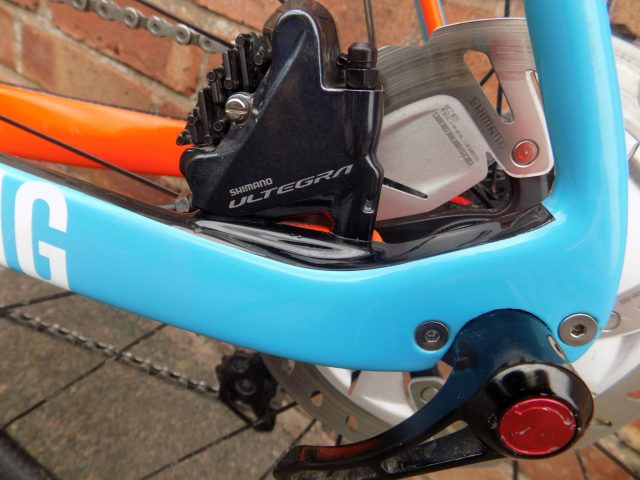 Shimano disc brakes and 12mm thru-axle