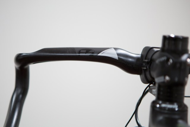 rear view of the unwrapped Vision Metron 4D carbon bike handlebar.