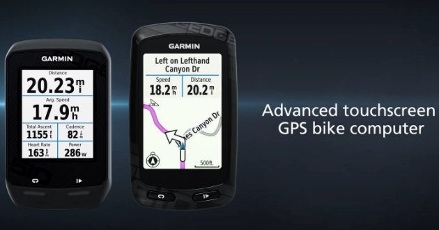 Garmin advanced touchscreen GPS bike computer