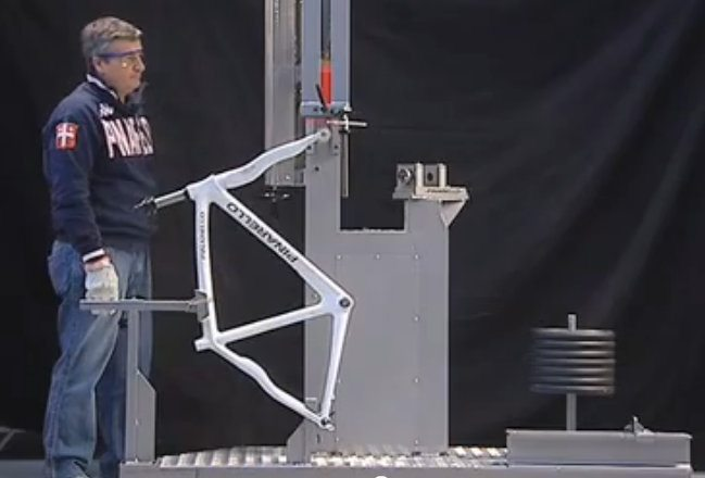 Pinarello crash testing