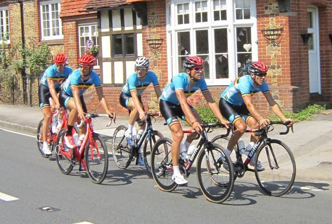 Riding with Belgium's Boonen and Gilbert on Box Hill