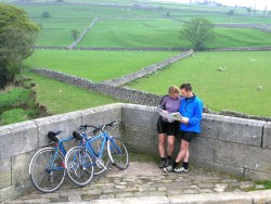 Cycling near Burnsall