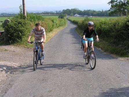 Cycling near Kirkby Lonsdale