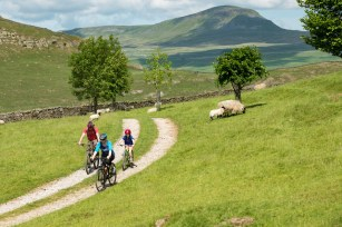 Family on Pennine Bridleway