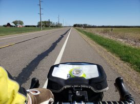Out of Aitkin, there were many miles of farm fields.