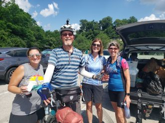 Soon after I started cycling, I met a cycling group out for a 50 mile ride. They invited me to join them for snacks at the sag wagon.