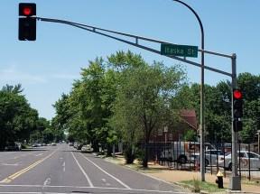 The street sign says I crossed Itaska, fun!