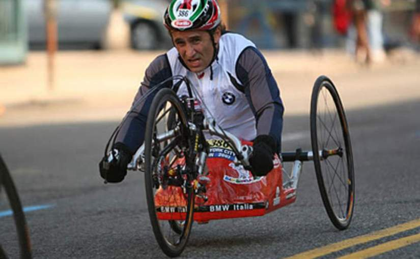 Alex Zanardi will be on a hand bike in Paralympics 2012