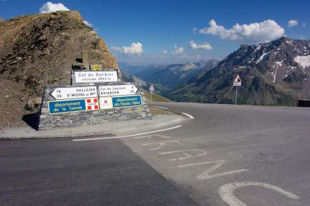 Signpost at the Col du Galibier