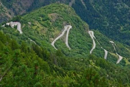 Alpe d'Huez, the famous hairpin curves