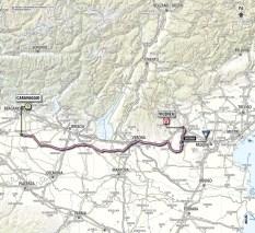 Giro d'Italia 2013 stage 17 map