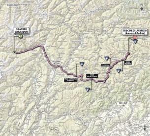 Giro d'Italia 2013 Stage 20 map