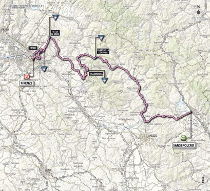 Giro d'Italia 2013 stage 9 map