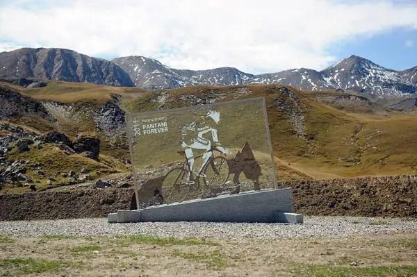 Marco Pantani monument, Col du Galibier