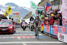 Thomas de Gendt wins on Passo dello Stelvio, Giro d'Italia 2012 stage 20