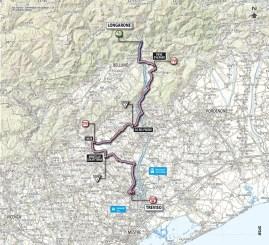 Giro d'Italia 2013 stage 12 map