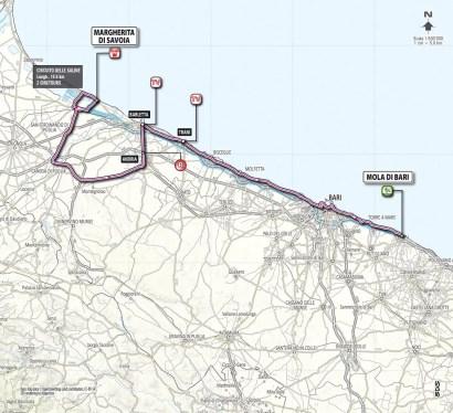 Giro d'Italia 2013 Stage 6 map