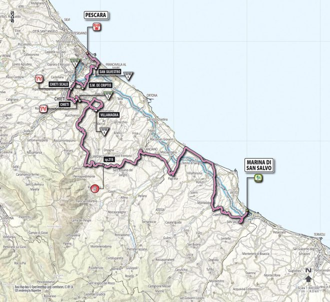 Giro d'Italia 2013 Stage 7 map