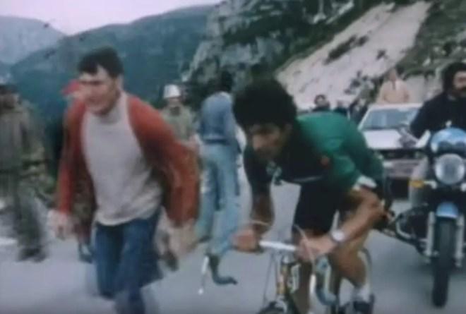 José Manuel Fuente climbing Tre Cime di Lavaredo, Giro d'Italia 1974