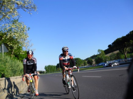 Cycling Tour in Italy, road to Pesaro, Mustafa and Muzaffer