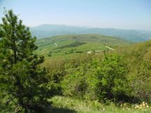 Cycling Tour in Italy, 2nd day, the view from near the summit
