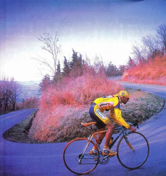 Marco Pantani climbing