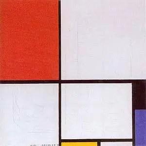 Piet Mondrian, Composition avec rouge, jaune et bleu, 1928