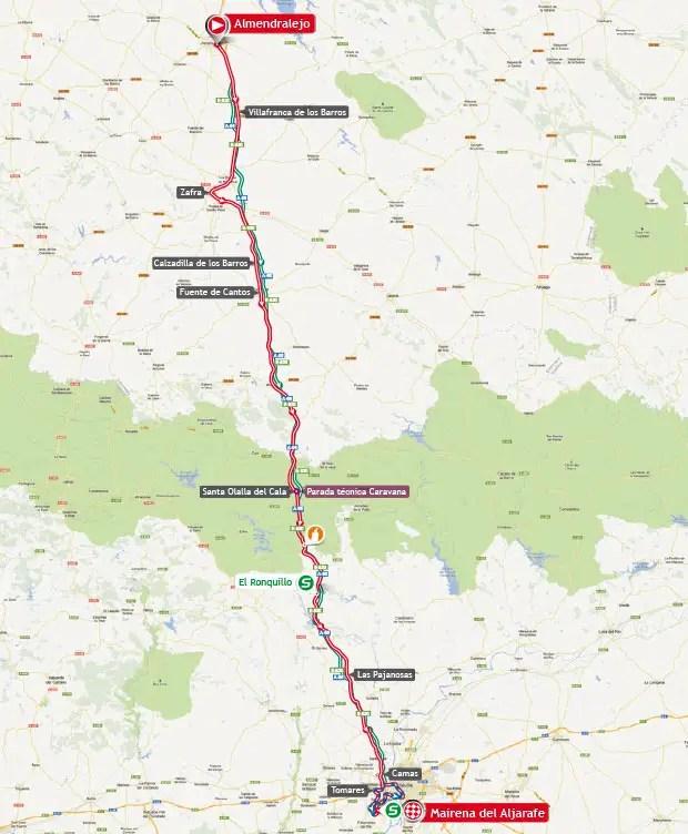 Vuelta a España 2013 stage 7 map