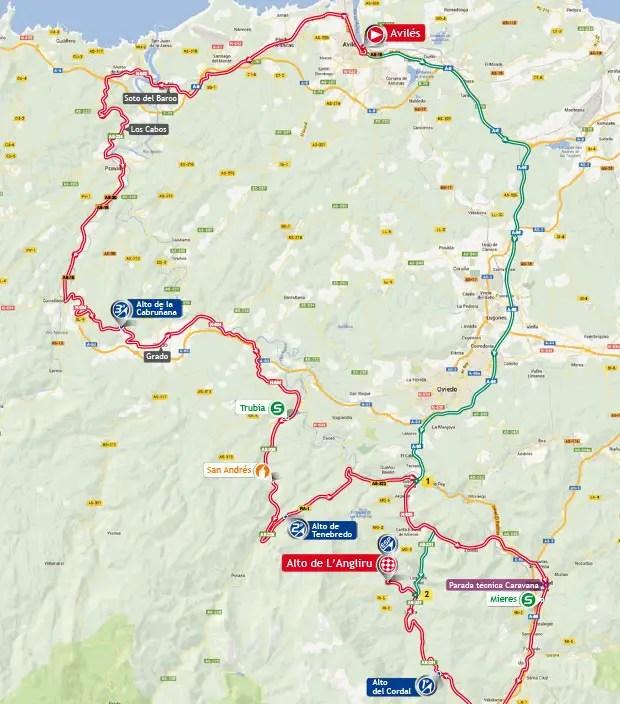 Vuelta a España 2013 stage 20 map