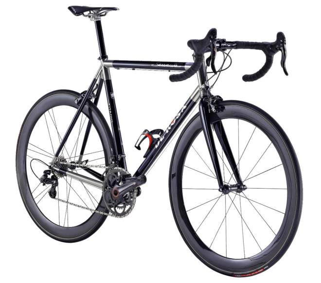 De Rosa 60th anniversary Black Label series: Titanium (front view)