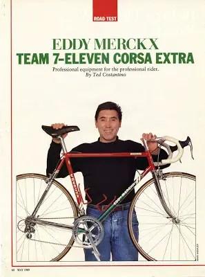 Eddy Merckx 7-Eleven Bicycle Guide, May '89