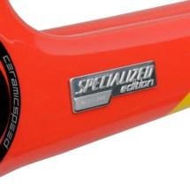 Specialized S-Works Tarmac 2014 Contador Edition Frameset details: Specialized logo near the Bottom Bracket