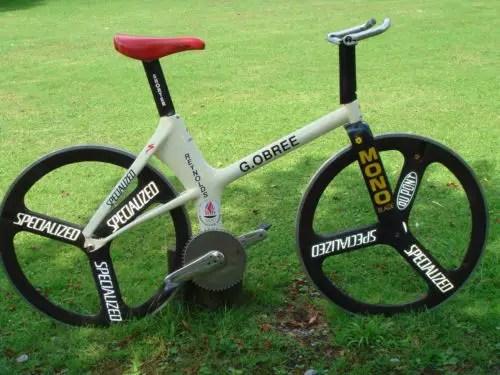 Graeme Obree's hour record bike