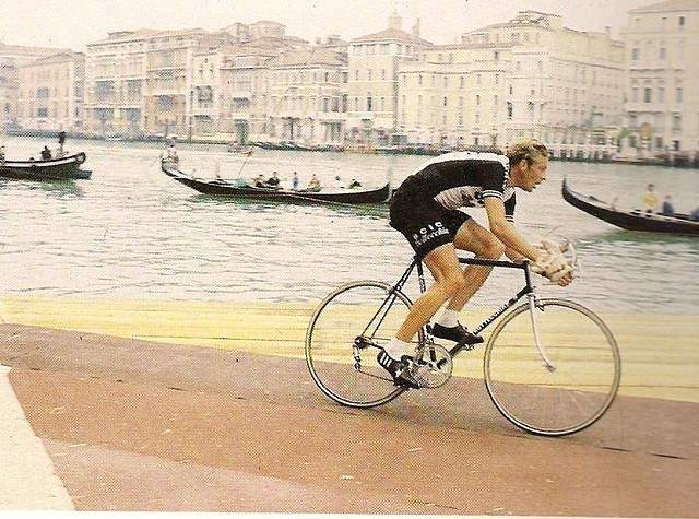 Roy Schuiten is time trialing at 14th stage of the 1978 Giro d'Italia