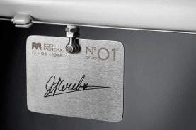 Eddy70 bike - number plate with Eddy Merckx sign